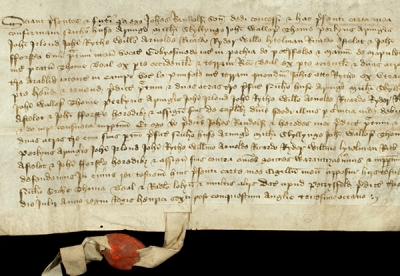 Item from a collection of deeds relating to property in Petersfield and Mapledurham, principally for 'Gobyesmede', together with lands in Liss and Sheet, Hampshire [MS 36 AO143]
