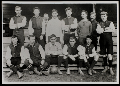 First football team, c.1900 [Univ Photo Collection LF 781]