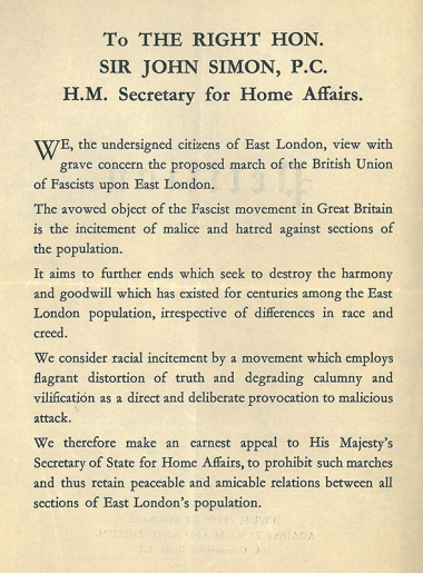 Petition to the Secretary for Home Affairs [MS 116/6]