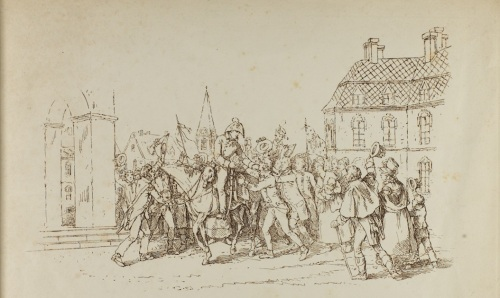 Lithograph of after the battle of Toulouse [MS 351/6 A4170/2]